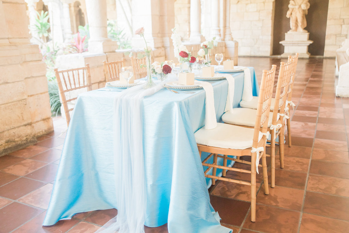 Romantic Watercolor Ideas Featuring A Blue Wedding Dress   Cana Rose Photography 3
