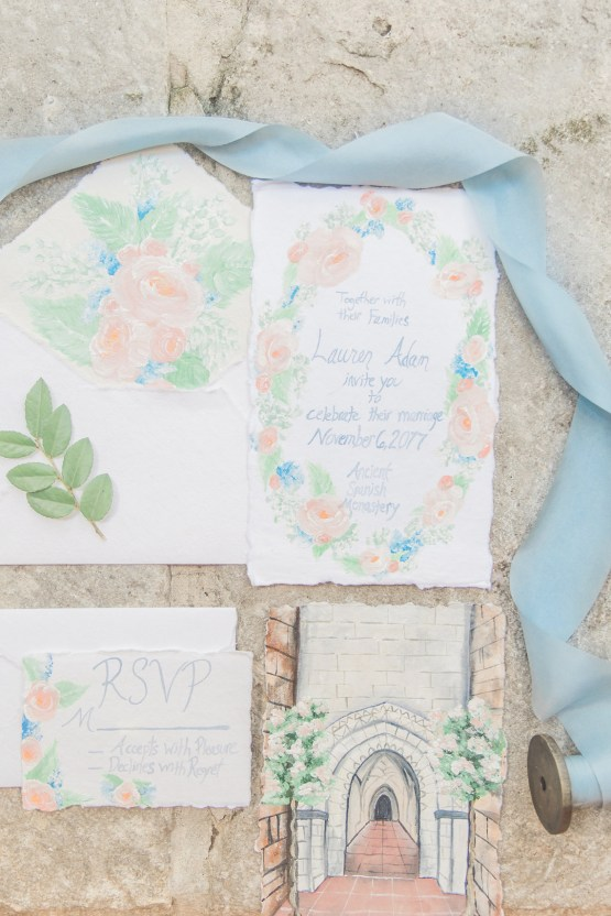 Romantic Watercolor Ideas Featuring A Blue Wedding Dress | Cana Rose Photography 30
