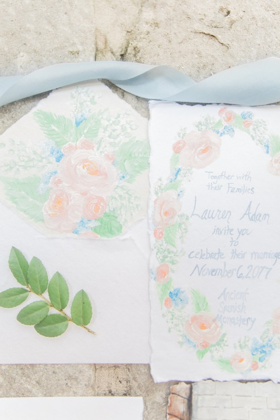 Romantic Watercolor Ideas Featuring A Blue Wedding Dress   Cana Rose Photography 31