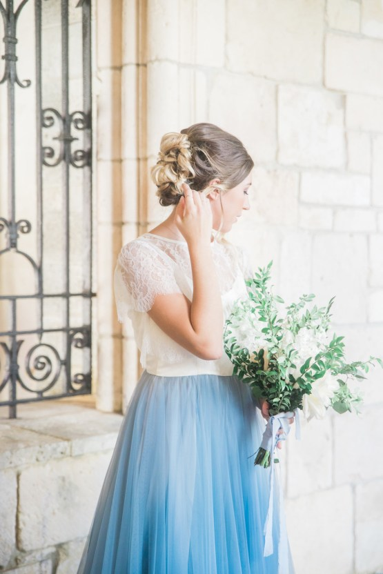 Romantic Watercolor Ideas Featuring A Blue Wedding Dress   Cana Rose Photography 9
