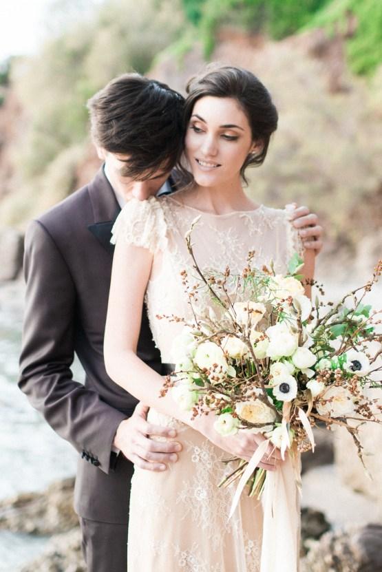 Earthy Organic Seaside Wedding Inspiration (& A Nude Wedding Dress) | George Liopetas 12
