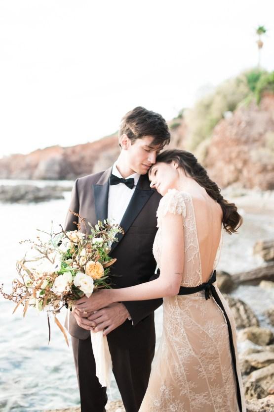 Earthy Organic Seaside Wedding Inspiration (& A Nude Wedding Dress) | George Liopetas 14