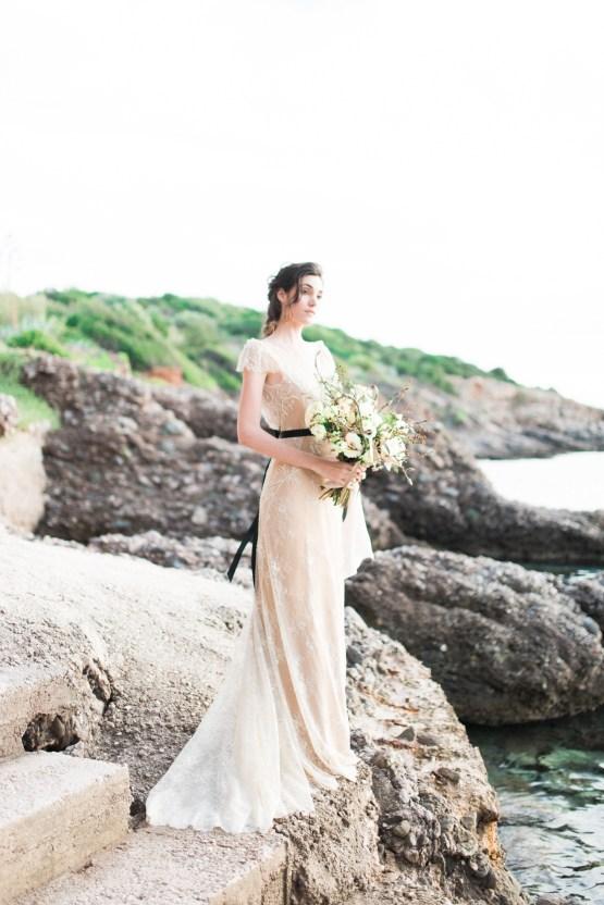 Earthy Organic Seaside Wedding Inspiration (& A Nude Wedding Dress) | George Liopetas 16