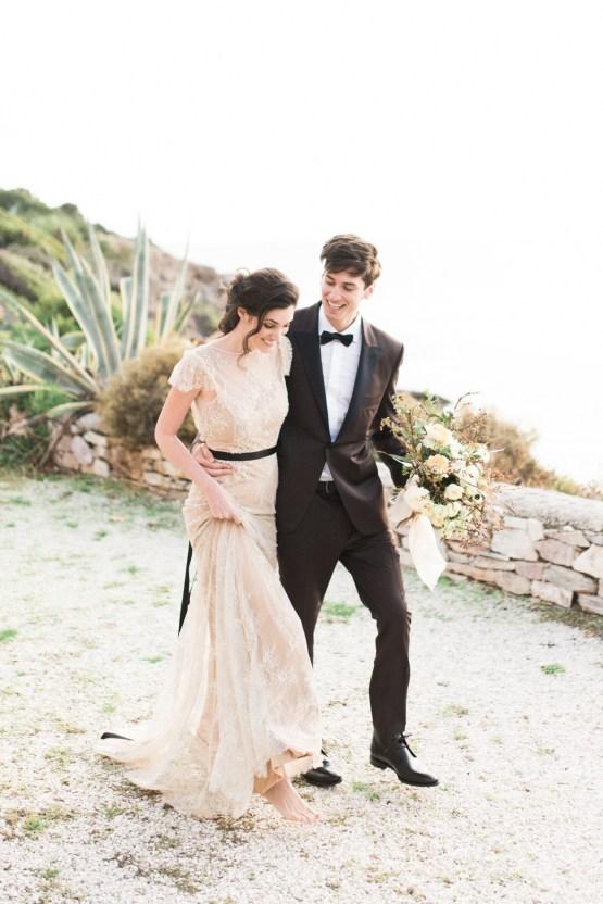 Earthy Organic Seaside Wedding Inspiration (& A Nude Wedding Dress) | George Liopetas 19