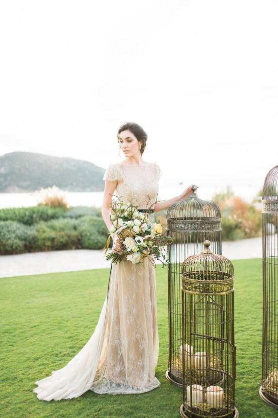 Earthy Organic Seaside Wedding Inspiration (& A Nude Wedding Dress) | George Liopetas 25