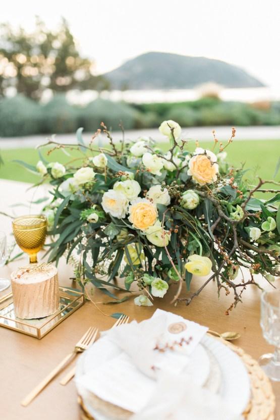 Earthy Organic Seaside Wedding Inspiration (& A Nude Wedding Dress) | George Liopetas 32