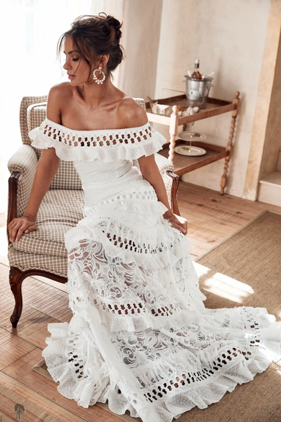 Free-Spirited Bohemian Icon Wedding Dress Collection by Graces Loves Lace | Coco 3