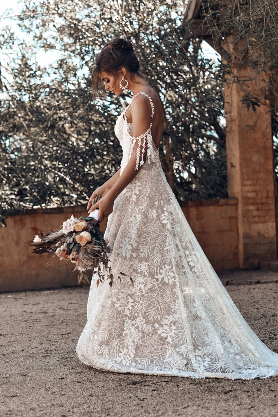Free-Spirited Bohemian Icon Wedding Dress Collection by Graces Loves Lace | Sol 4
