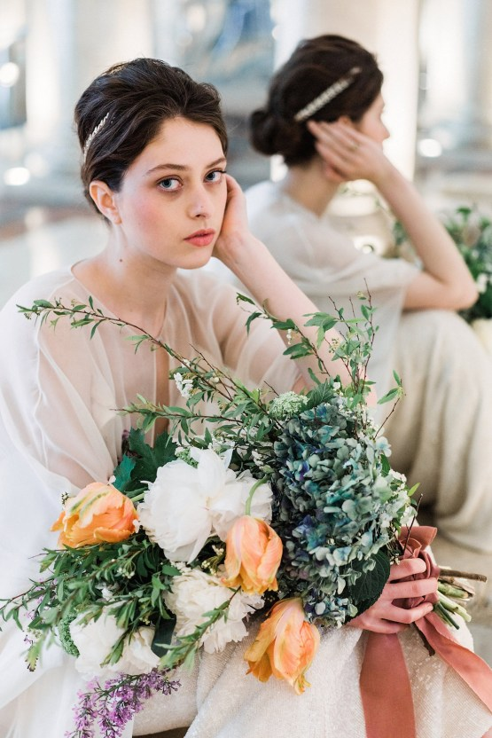 Sparkling Art Deco Wedding Inspiration From NYC | Mibellarosa | Jenny Fu Studio 17
