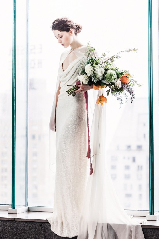 Sparkling Art Deco Wedding Inspiration From NYC | Mibellarosa | Jenny Fu Studio 6