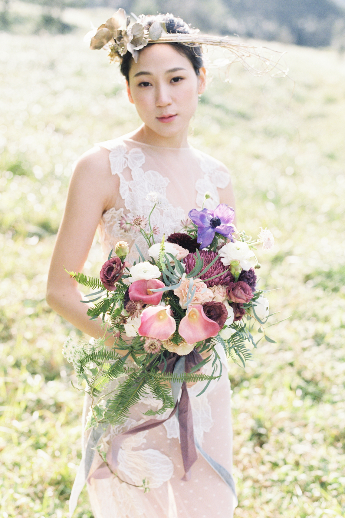 Whimsical Meadow Wedding Inspiration With Dried Florals | Olea & Fig Studio | The Stage Photography 15