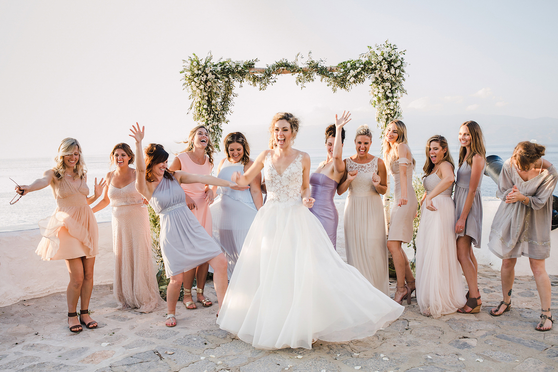 Delightfully Pretty & Wildy Fun Greek Destination Wedding | Penelope Photography 43