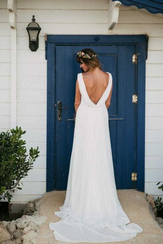 Relaxed All-White Spanish Beach Wedding With Seriously Glamorous Bridal Beauty Style   Sara Lobla Photography 39