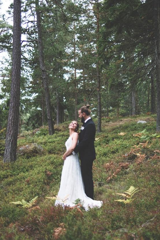Relaxed & Woodsy Swedish Island Wedding   Sara Kollberg 1