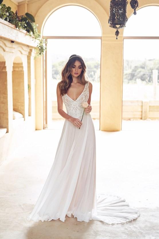 The Romantic & Sparkling Anna Campbell Wanderlust Wedding Dress Collection | Jamie Dress (Summer Skirt)-2