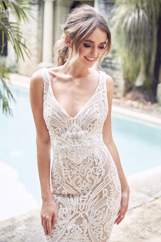 The Romantic & Sparkling Anna Campbell Wanderlust Wedding Dress Collection | Jamie Dress (Trumpet Skirt)-3