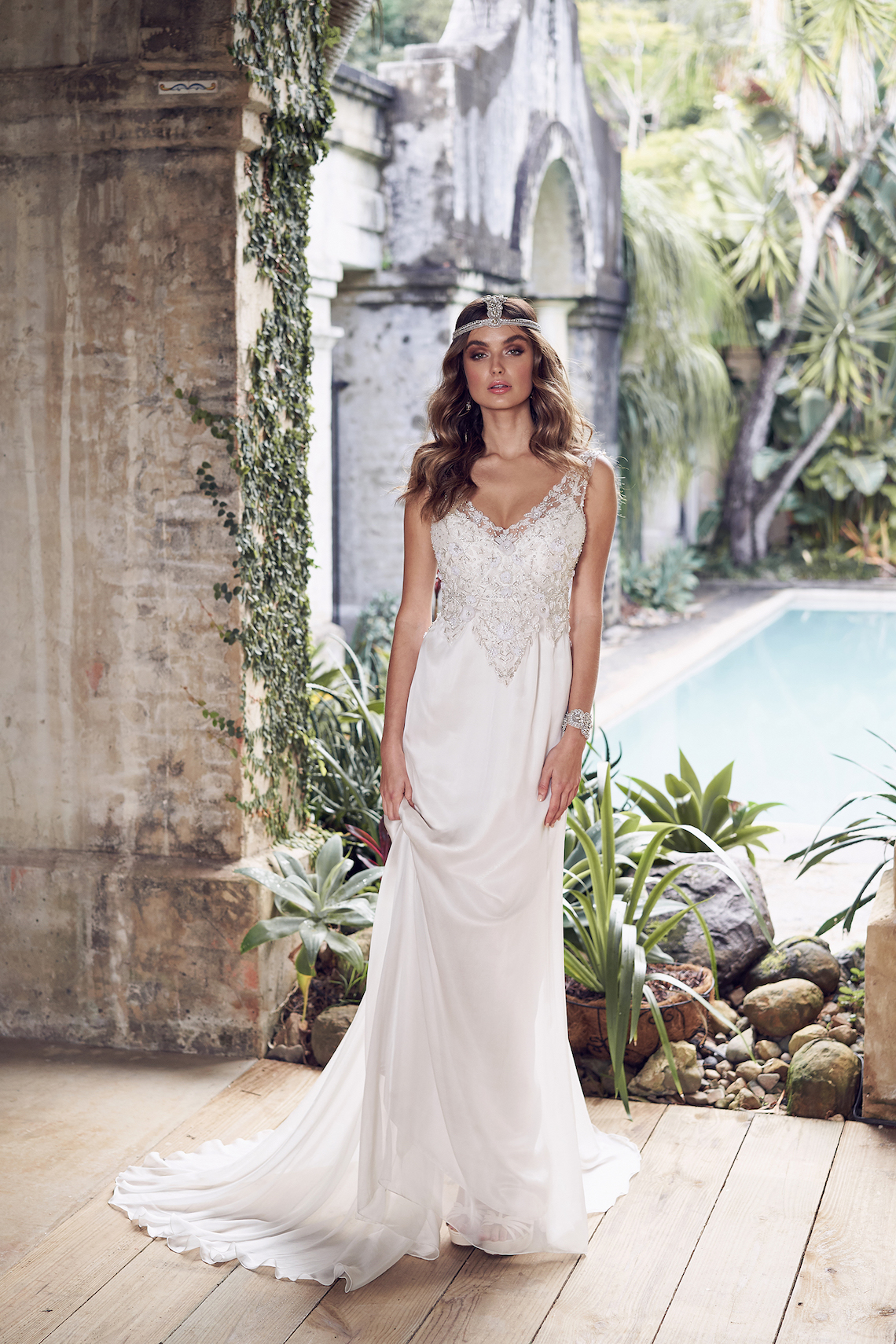 The Romantic & Sparkling Anna Campbell Wanderlust Wedding Dress Collection | Paige Dress (Slimline Chiffon Skirt)-1
