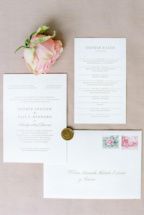 An Elegant Royal Vienna Destination Wedding | A Very Beloved Wedding | Sandra Aberg 2