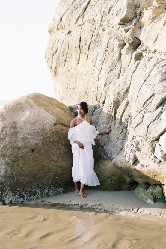 Artistic Burgundy & Fig Beach Wedding Inspiration   Rosencrown Photography 27