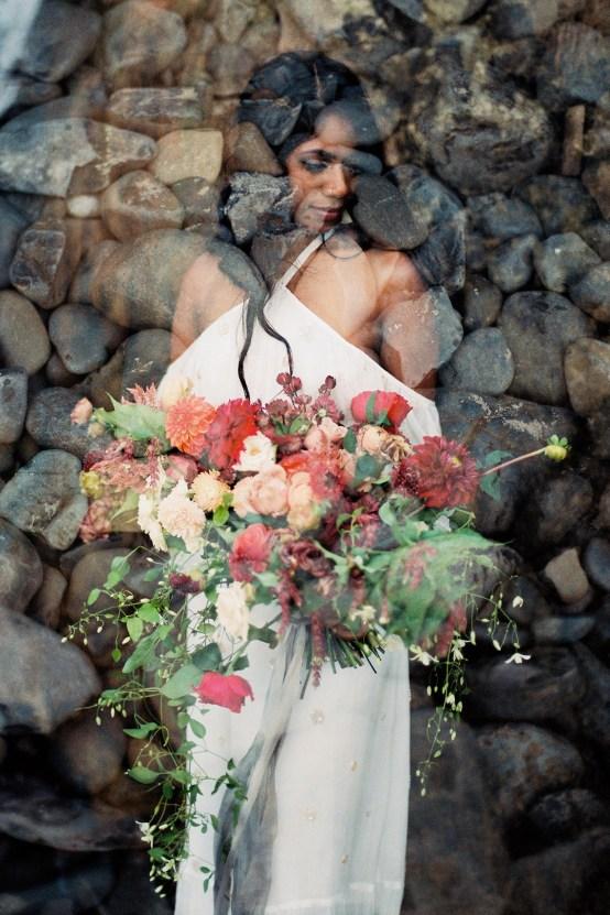 Artistic Burgundy & Fig Beach Wedding Inspiration   Rosencrown Photography 34