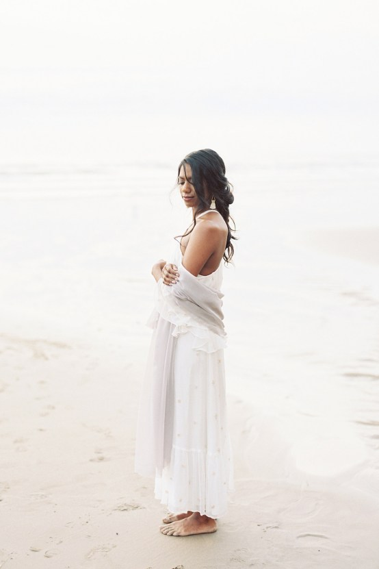 Artistic Burgundy & Fig Beach Wedding Inspiration | Rosencrown Photography 35