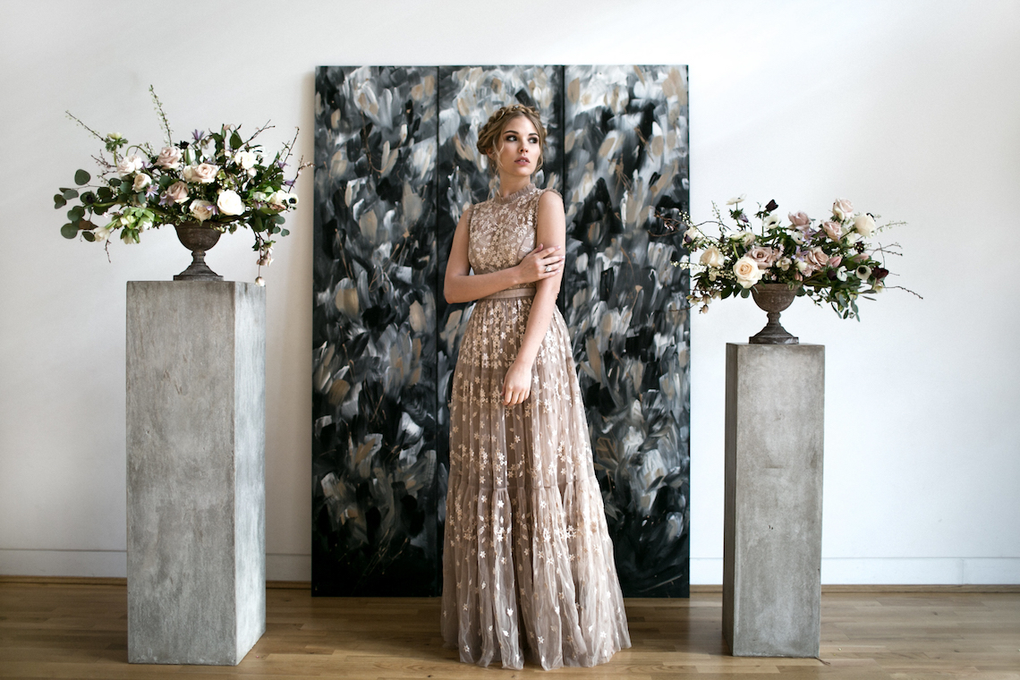 Celestial Ballerina Meets Art Gallery Wedding Inspiration   Alleksana Photography 2