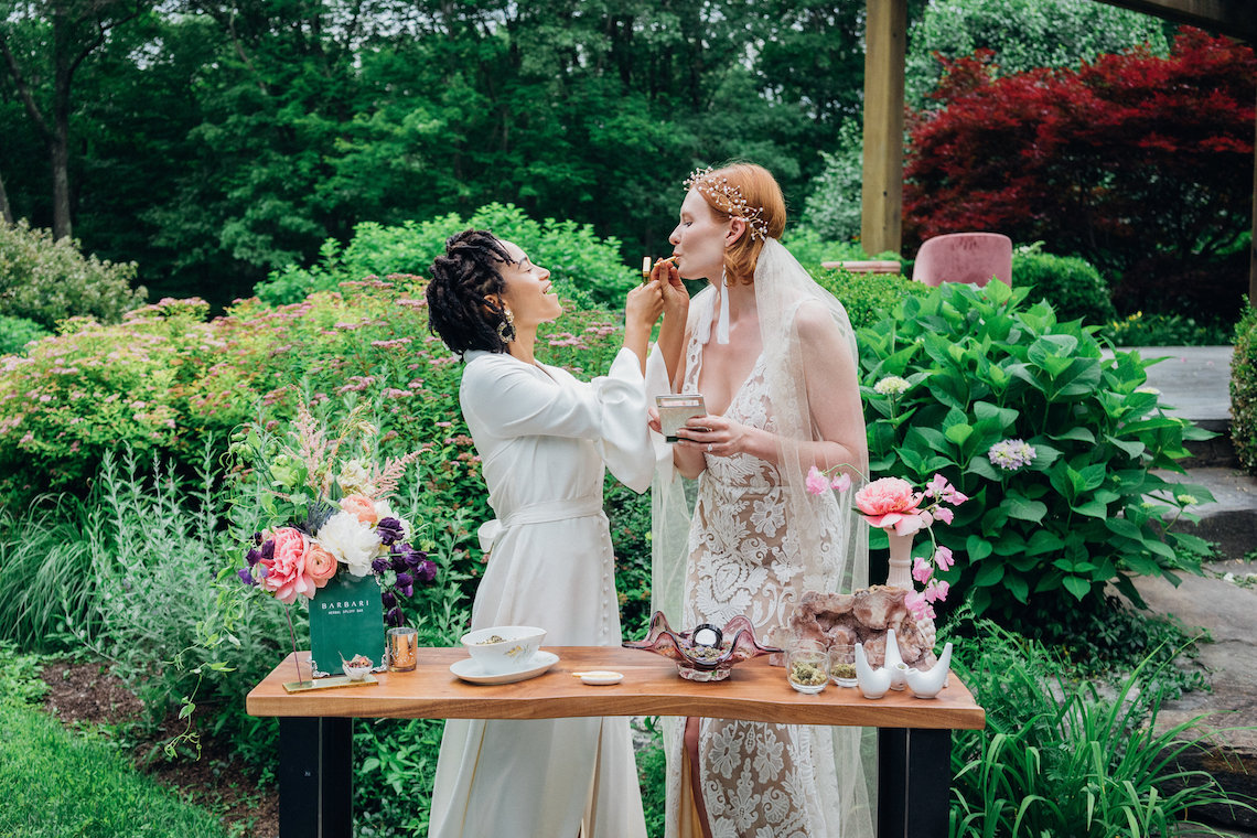 High Style; Luxurious Weed Wedding Ideas | Claire Eliza | High Herstory | Sarah Seven 4