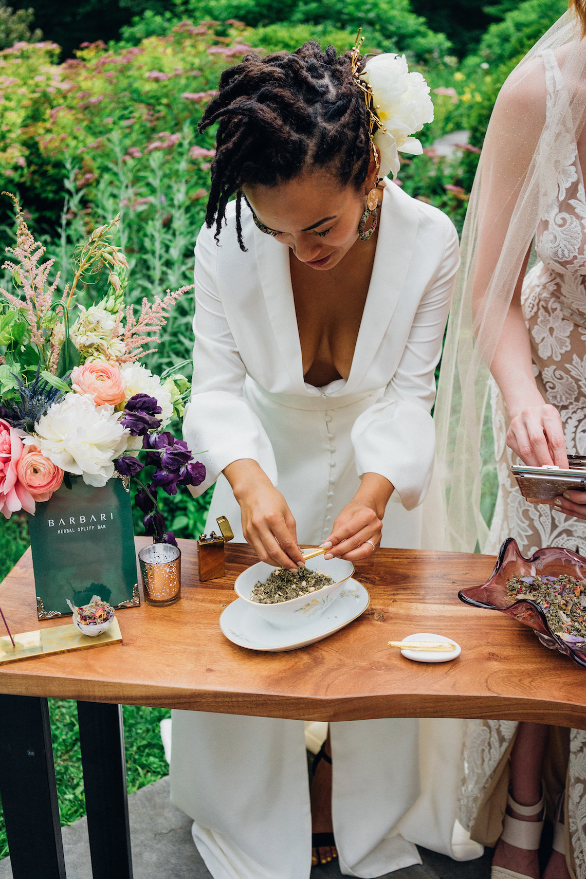 High Style; Luxurious Weed Wedding Ideas | Claire Eliza | High Herstory | Sarah Seven 60