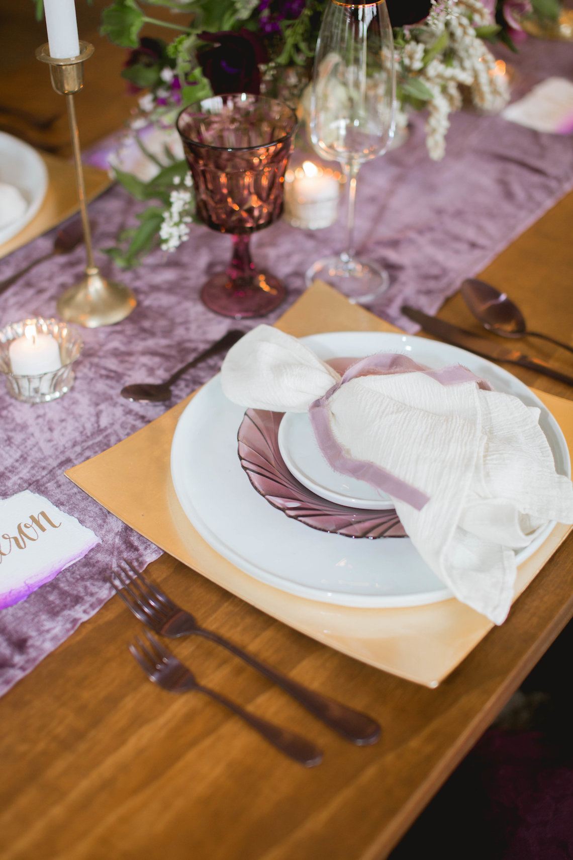 Multicultural Purple and Gold Bollywood Wedding Inspiration – Willow and Ivy Events – Zainab Rikabi 1