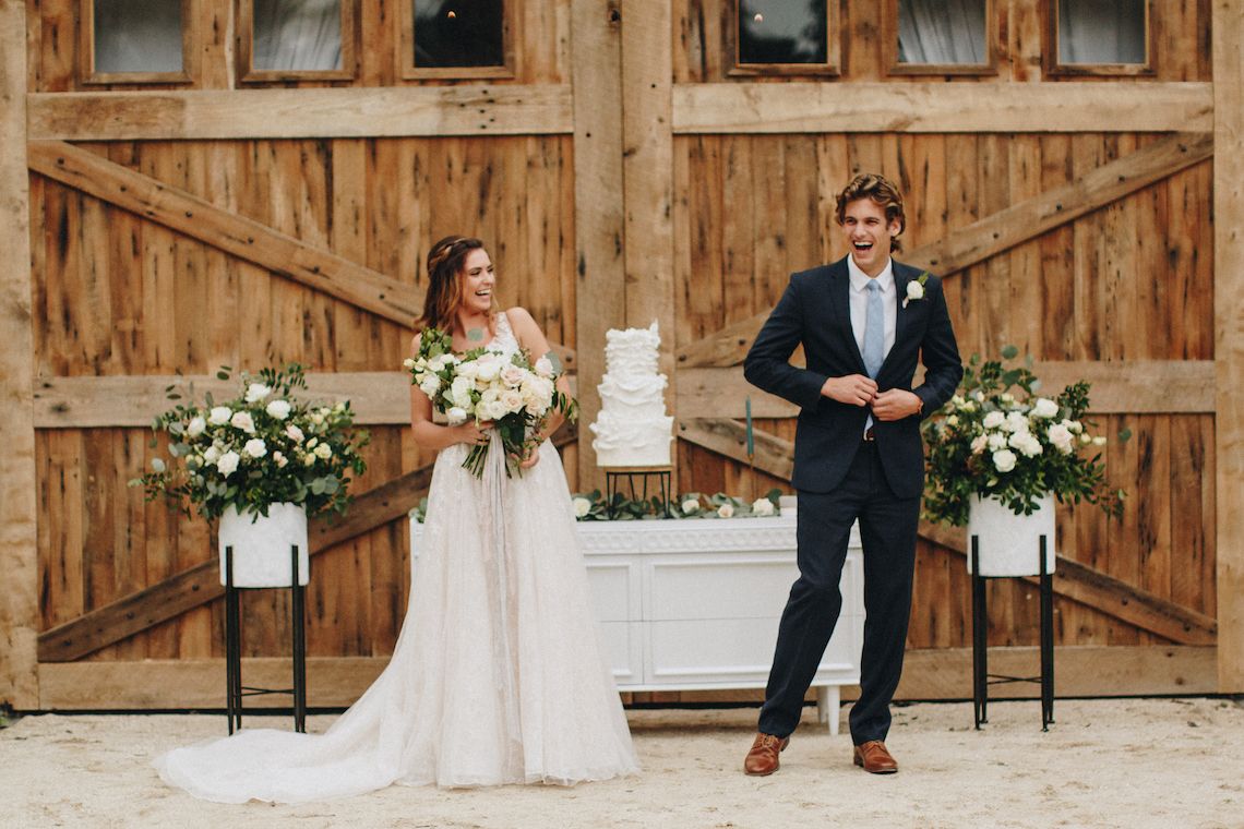 Vintage Fall Farmhouse Wedding Inspiration | Patina & Petals | Sydney Marie Photography 39