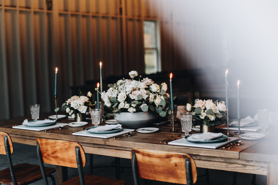 Vintage Fall Farmhouse Wedding Inspiration | Patina & Petals | Sydney Marie Photography 44