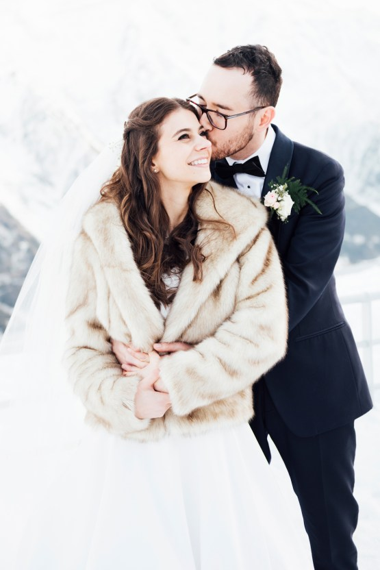 Charming Chamonix Winter Wedding With A Fur Coat – Katie Mitchell 19