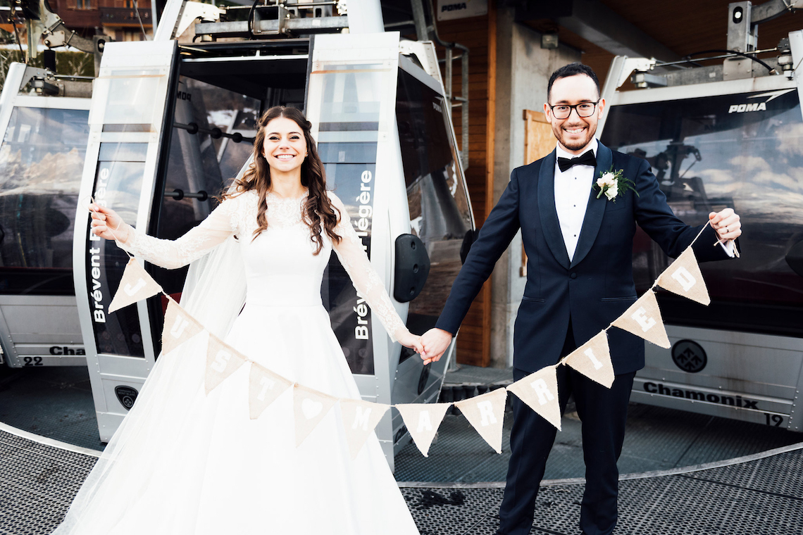 Charming Chamonix Winter Wedding With A Fur Coat – Katie Mitchell 32