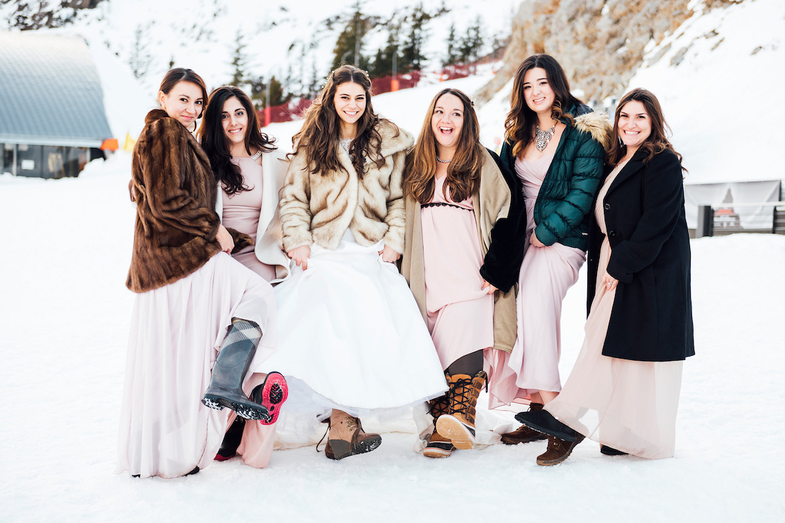 Winter Brides Must See This Charming Chamonix Wedding Faux Fur Included