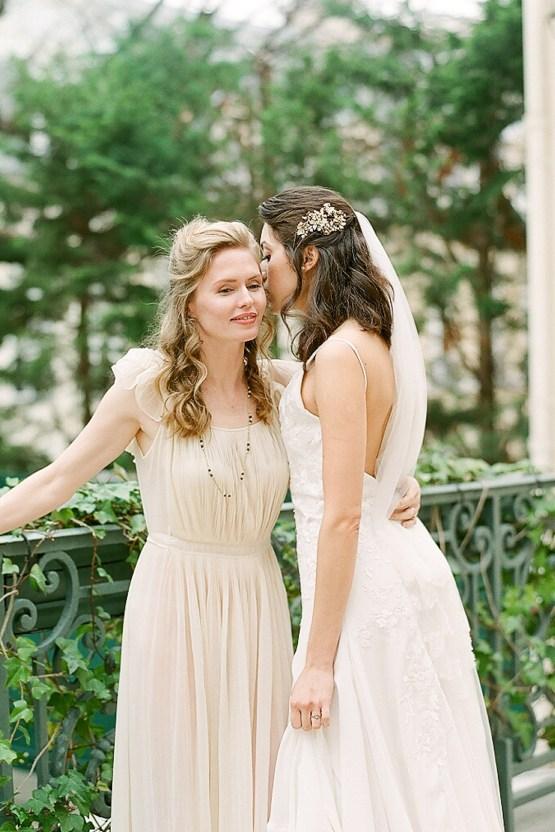 Elegant Blush Parisian Bridal Inspiration Featuring Luxurious Veils and Boudoir Ideas – Bonphotoge 14