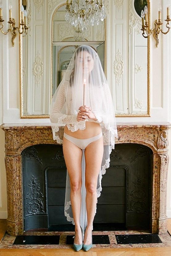 Elegant Blush Parisian Bridal Inspiration Featuring Luxurious Veils and Boudoir Ideas – Bonphotoge 26