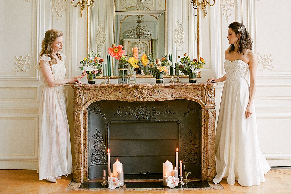 Elegant Blush Parisian Bridal Inspiration Featuring Luxurious Veils and Boudoir Ideas – Bonphotoge 73