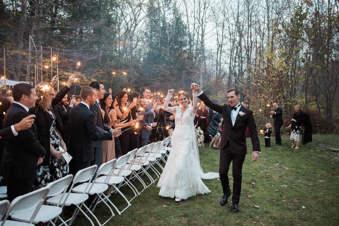 Warm Fall Catskills Wedding With Ceremony Sparklers – Christina Lilly Photography – Buds of Brooklyn 13