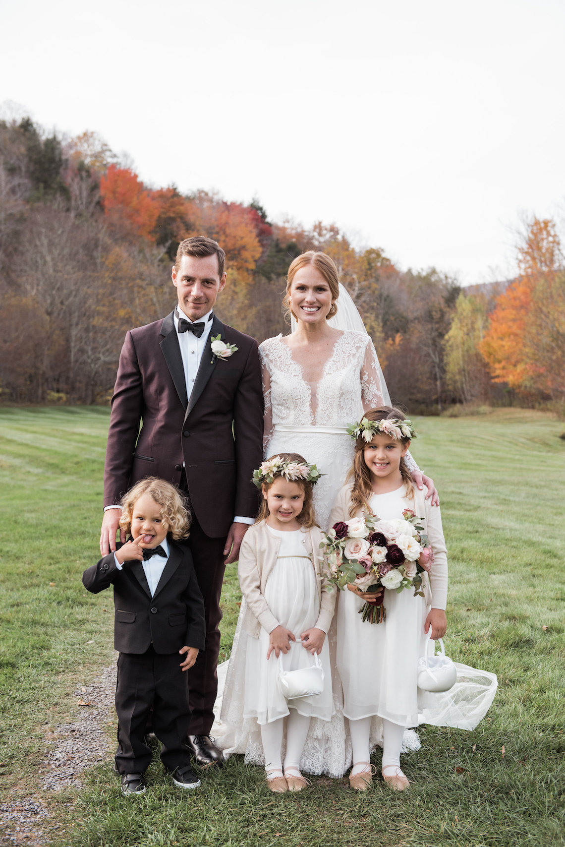 Warm Fall Catskills Wedding With Ceremony Sparklers – Christina Lilly Photography – Buds of Brooklyn 44