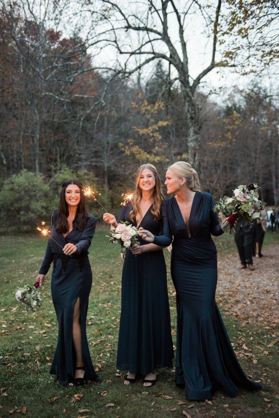 Warm Fall Catskills Wedding With Ceremony Sparklers – Christina Lilly Photography – Buds of Brooklyn 52