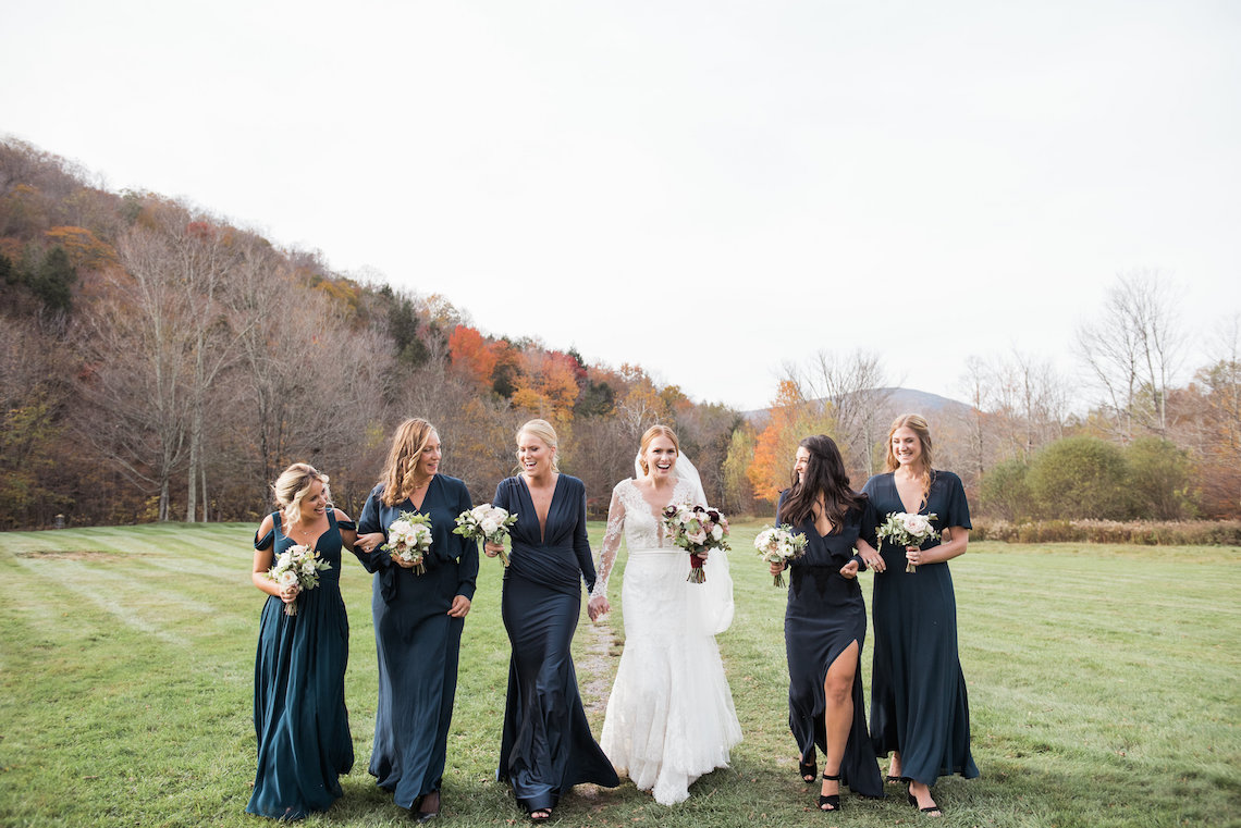 Warm Fall Catskills Wedding With Ceremony Sparklers – Christina Lilly Photography – Buds of Brooklyn 6