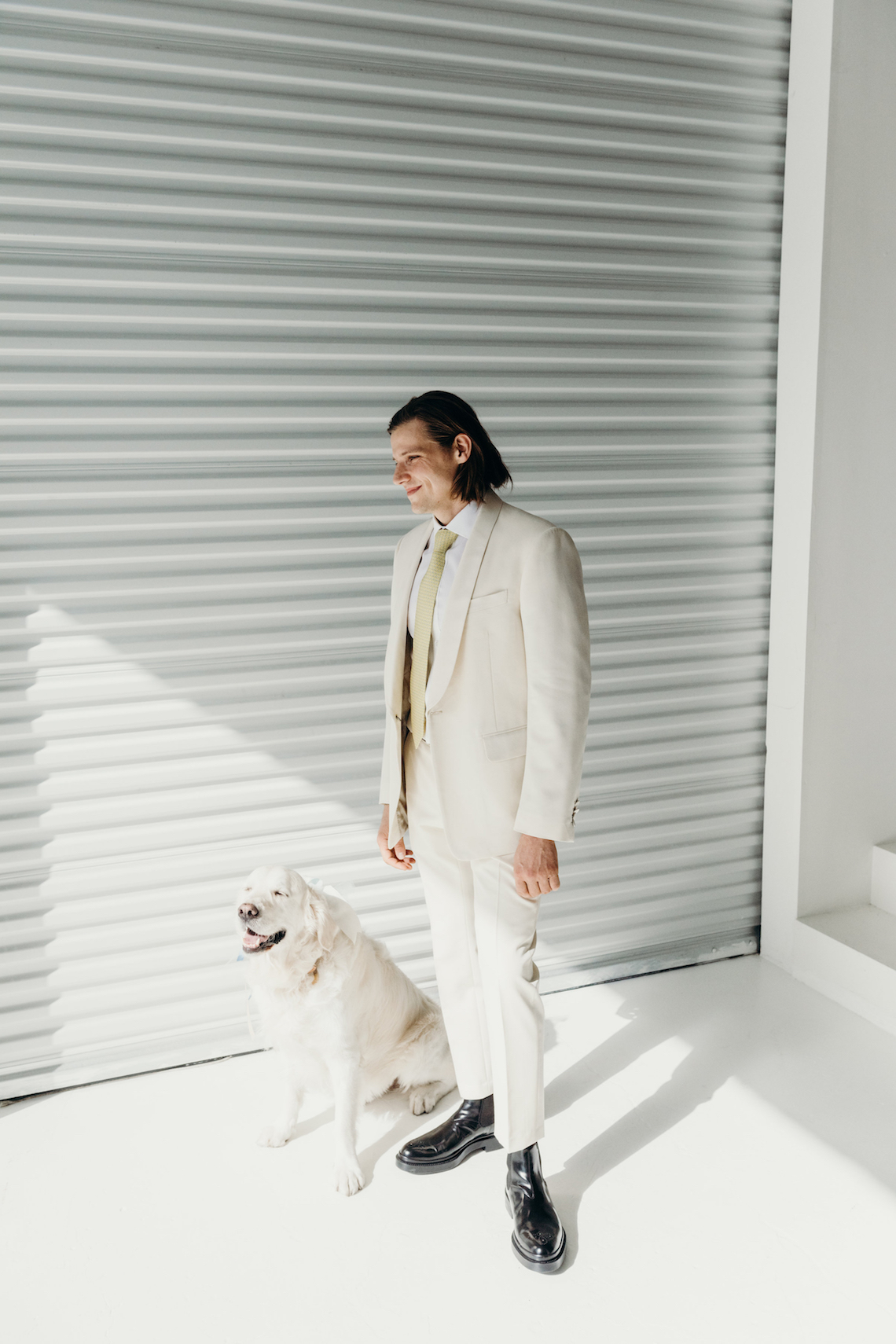 All-White Portland Photo Studio Wedding – Davis Hilton 26