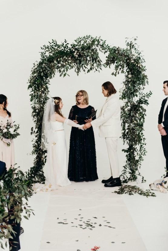 All-White Portland Photo Studio Wedding – Davis Hilton 29