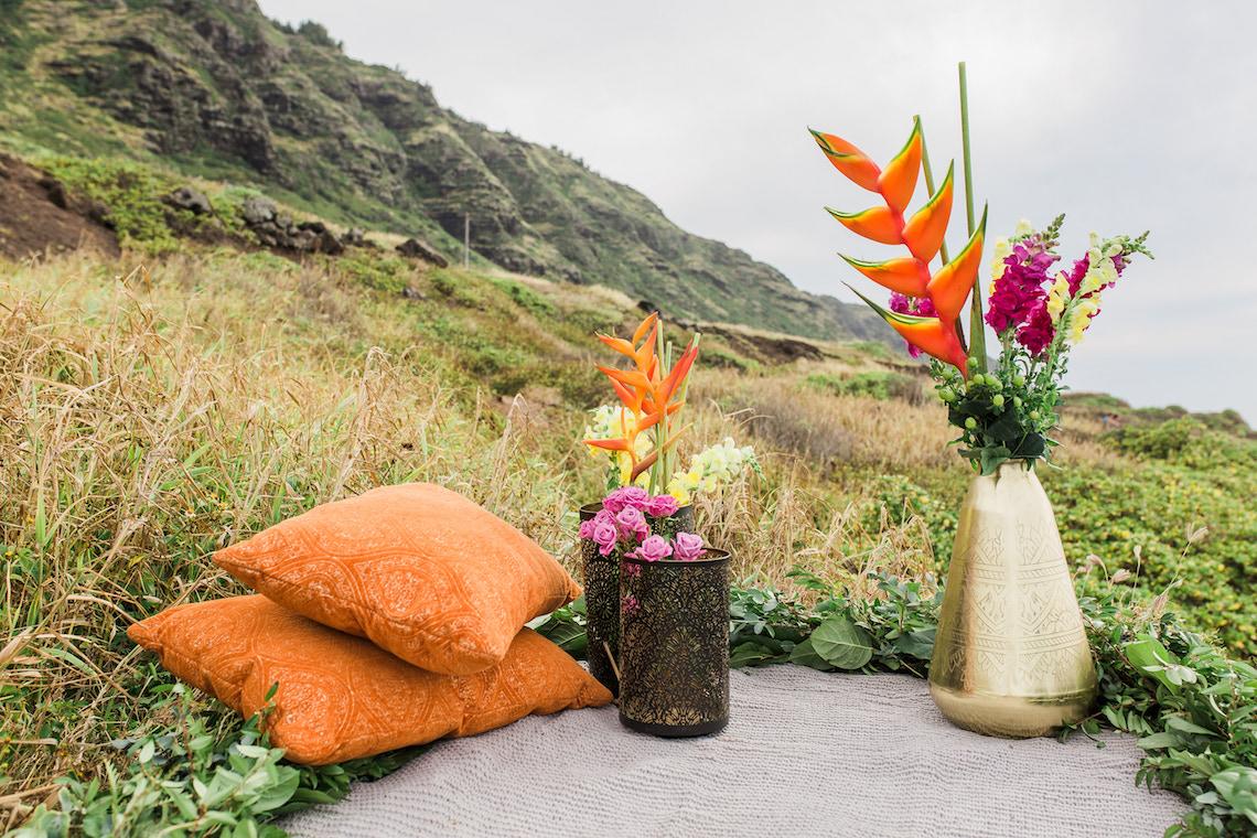 Colorful Hawaiian Boho Wedding Inspiration – Chelsea Stratso Photography 1