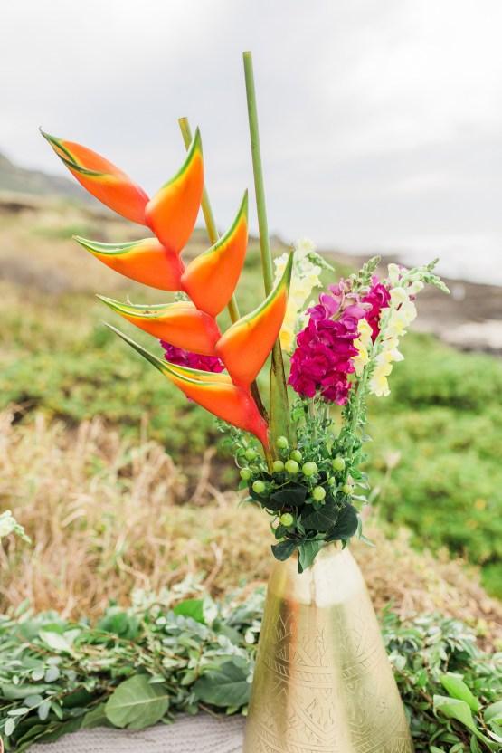 Colorful Hawaiian Boho Wedding Inspiration – Chelsea Stratso Photography 18