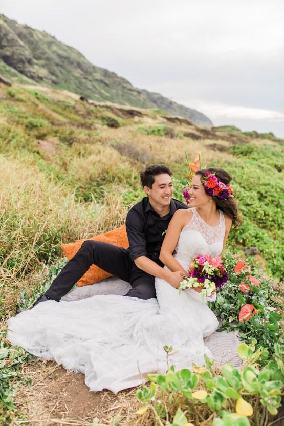 Colorful Hawaiian Boho Wedding Inspiration – Chelsea Stratso Photography 27