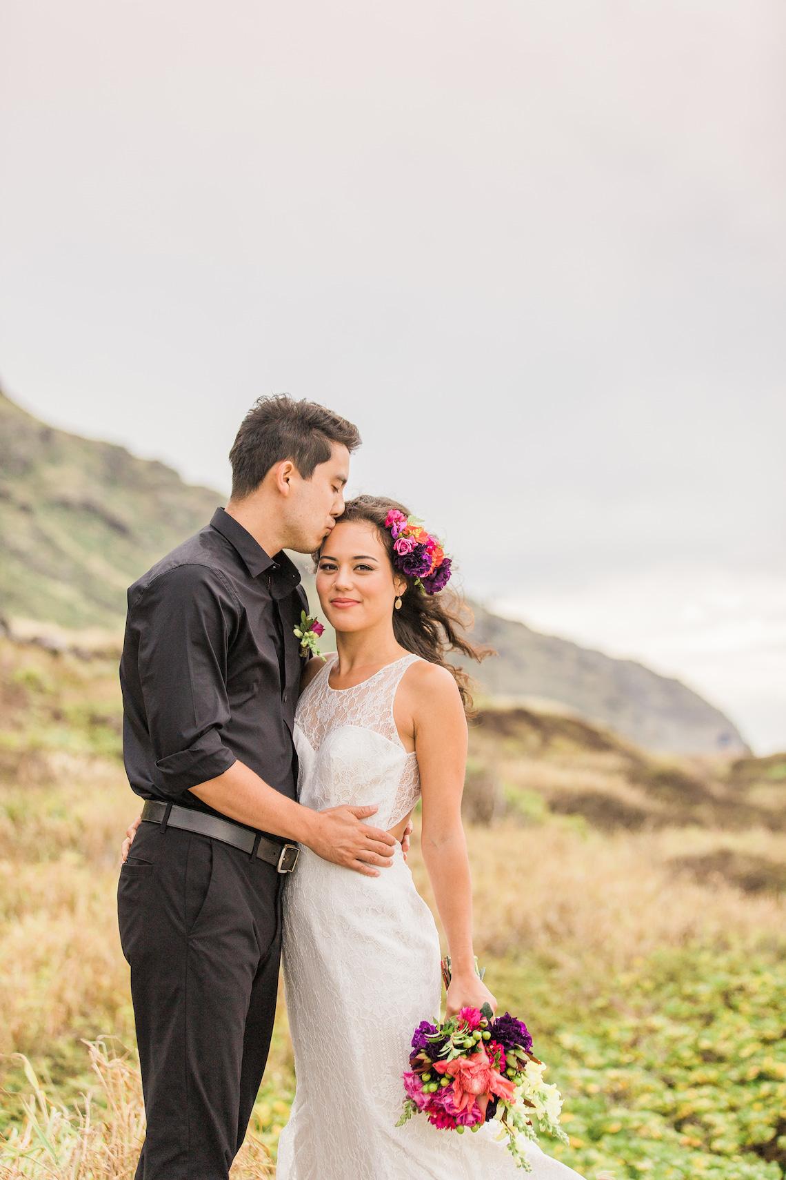 Colorful Hawaiian Boho Wedding Inspiration – Chelsea Stratso Photography 34