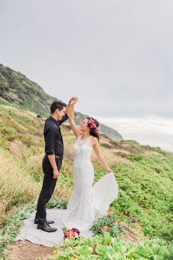 Colorful Hawaiian Boho Wedding Inspiration – Chelsea Stratso Photography 37