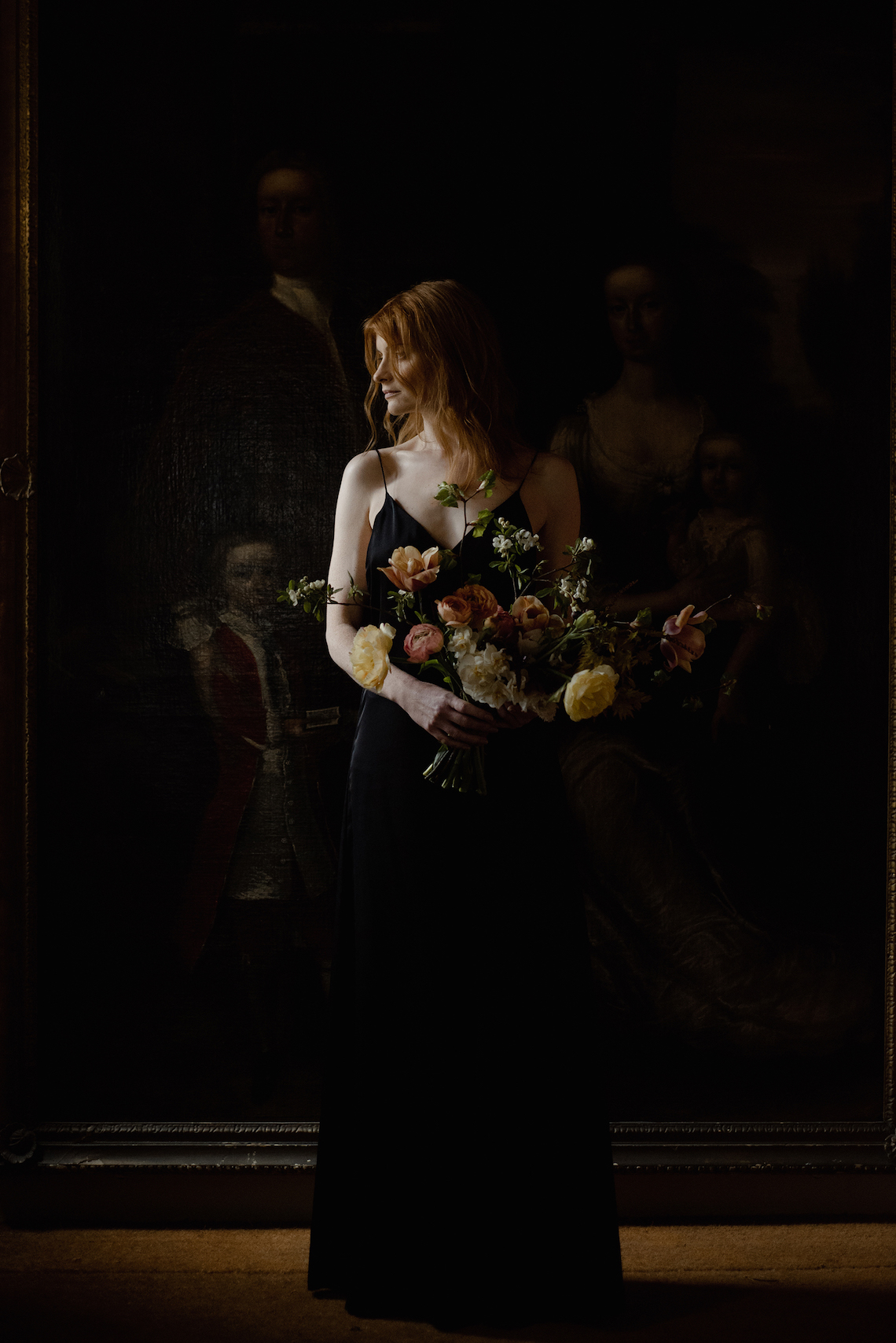 Dramatic Bridesmaid Inspiration With Fall Florals and A Black Jumpsuit – Georgina Harrison Photography 19