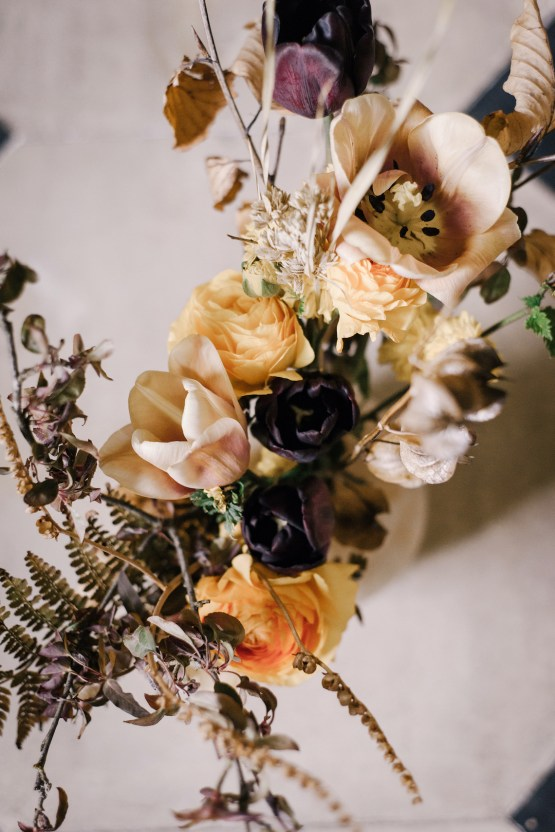 Dramatic Bridesmaid Inspiration With Fall Florals and A Black Jumpsuit – Georgina Harrison Photography 29